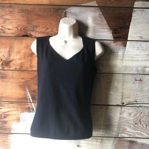 Vintage Valentino Med. 1980's V-Neck Knit Top